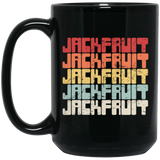 Vegetarian Jackfruit, Vintage Vegan Jack Fruit Black Mug