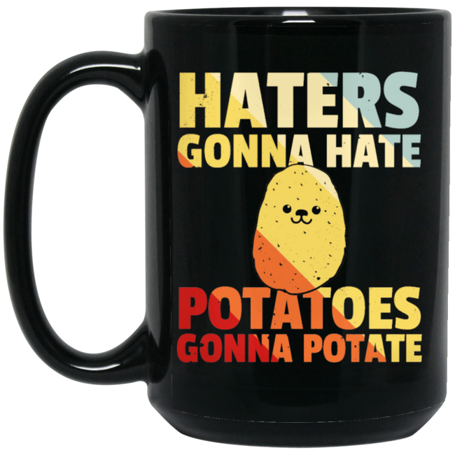 Potato Potatoes Fries Vintage Retro Black Mug