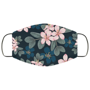 Cherry Blossom, Flowers Three Layers Face Mask