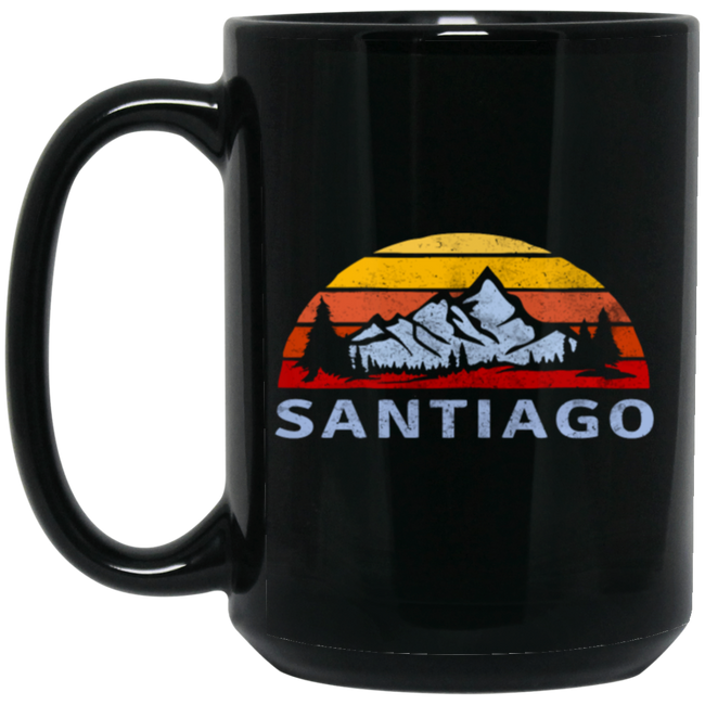 Retro Santiago Mountain Sunset Vintage
