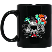 Retro Historic Funny Space Shuttle Science Nerd Black Mug