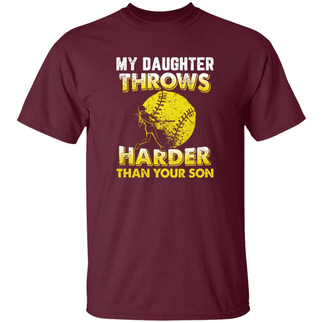 Funny Softball Dad Shirts My Daughter Throw