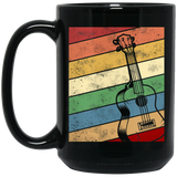 Guitar Bass Retro Music Vintage Black Mug