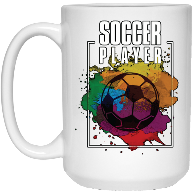 Soccer Player White Mug