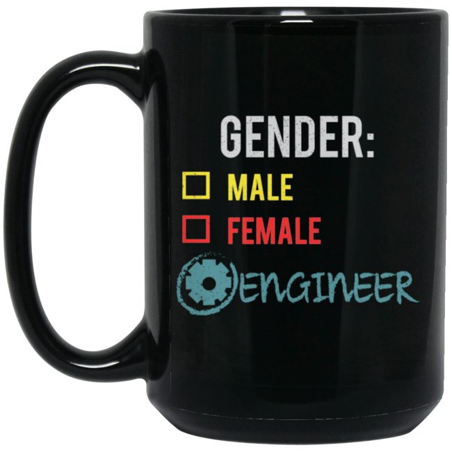 Engineer Gender Fluid Nonbinary Trans Black Mug