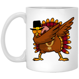 Thanksgiving Day, Dabbing Turkey White Mug