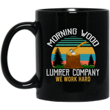 Morning Wood Retro, Lumber Company Funny Camping Carpent