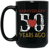 50th Wedding Anniversary Black Mug