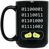 Binary Nightmare Black Mug