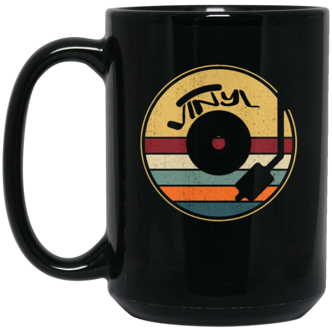 Vinyl Record Player 60s 70s 80s Black Mug