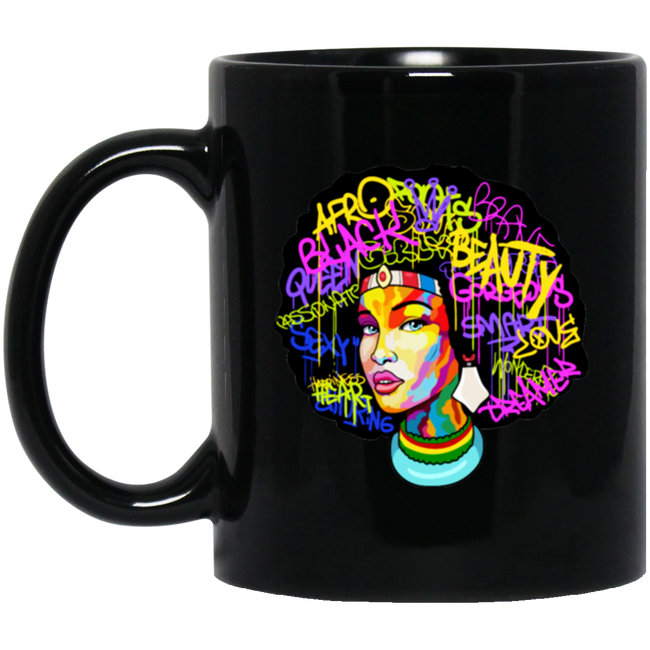 Afro Woman Hair, Afro Beat Black Mug