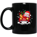 Mimi Claus Truck Christmas Santa Hat Family Black Mug