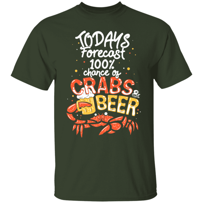 Todays Forecast Crabs & Beer Crab Eating