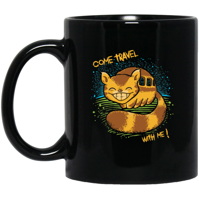 Travel With Me Black Mug