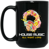 House Music Headphones DJ Black Mug