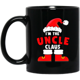 I'm The Uncle Claus Christmas Family Matching Black Mug