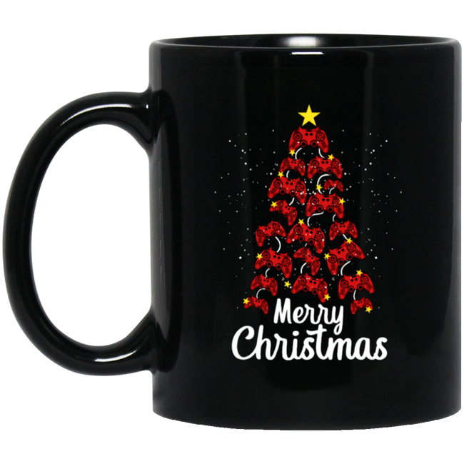 Gamer Merry Christmas, Christmas Black Mug