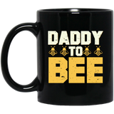 Mens Daddy To Bee New Dad Gifts Black Mug