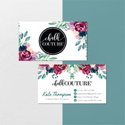 Personalized Chalk Couture Card, Floral Chalk Couture Business Cards CC06