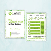 It Works Thank You Cards, It Works Tips & Tricks Cards IW13