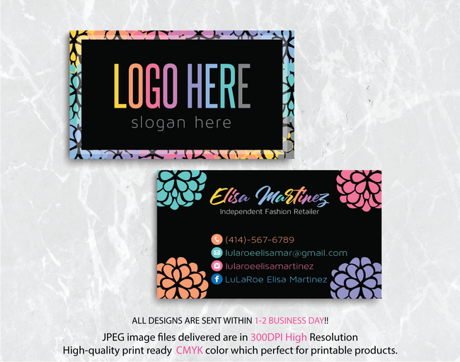 Personalized Lularoe Business Cards, Lularoe Template Design LLR14