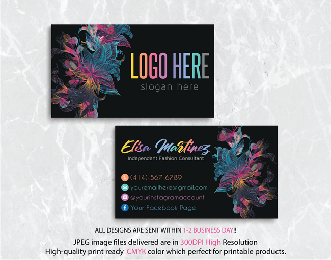 Personalized Lularoe Business Cards, Lularoe Template Design LLR22