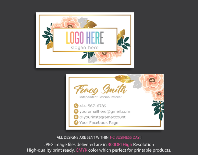 Personalized Lularoe Business Cards, Lularoe Template Design LLR21