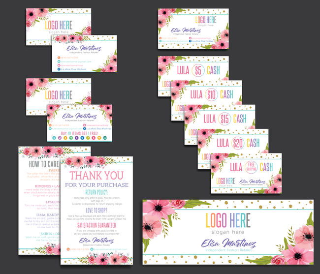 Lularoe Marketing Bundle, Personalized LuLaRoe Marketing Kit LLR07