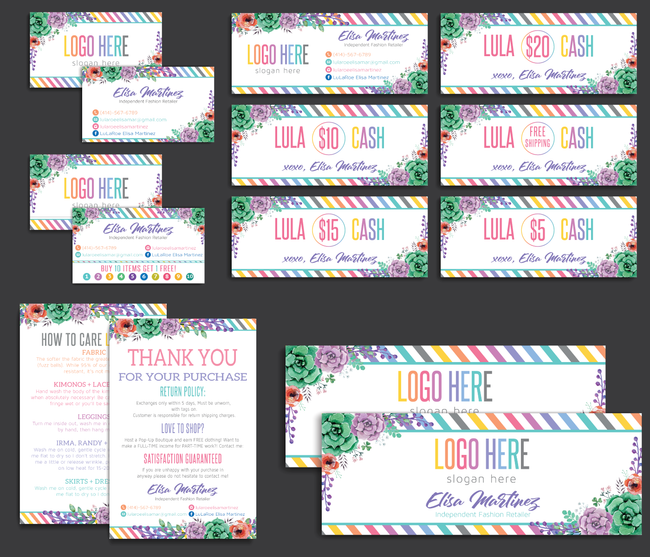 Lularoe Marketing Bundle, Personalized LuLaRoe Marketing Kit LLR08