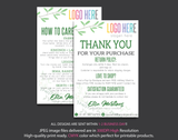 Personalized Lularoe Thank You Card, Lularoe Care Instruction Card LLR25
