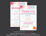 Personalized Lularoe Thank You Card, Lularoe Care Instruction Card LLR24
