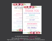Personalized Lularoe Thank You Card, Lularoe Care Instruction Card LLR07