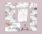 Watercolor Monat Cards, Monat Marketing Bundle, Personalized Monat Business Cards MN142