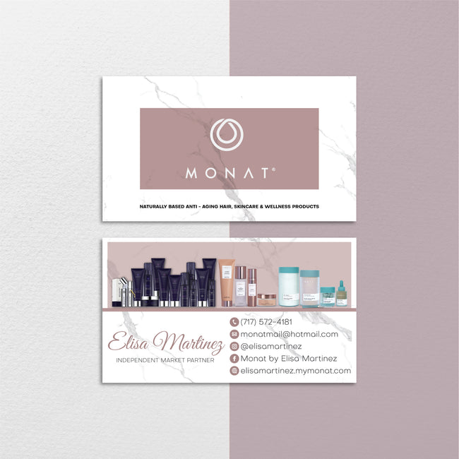 Marble Modern Monat Business Cards, Marble Personalized Monat Hair Care Cards MN153