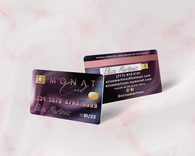Premium Personalized Monat Business Cards, Monat Credit Card Business Card MN160