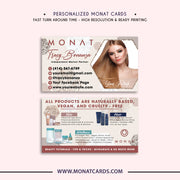 Watercolor Personalized Monat Hair Care Cards, Modern Monat Business Cards MN179