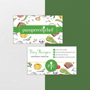 Pampered Chef Business Card, Personalized Pampered Chef Business Cards PPC15