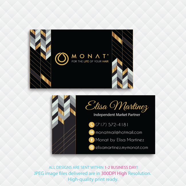 Monat Business Cards, Personalized Monat Hair Care Cards MN42