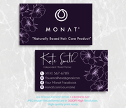 Monat Business Cards, Personalized Monat Hair Care Cards MN29