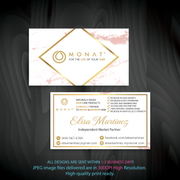 Monat Business Cards, Personalized Monat Hair Care Cards MN44