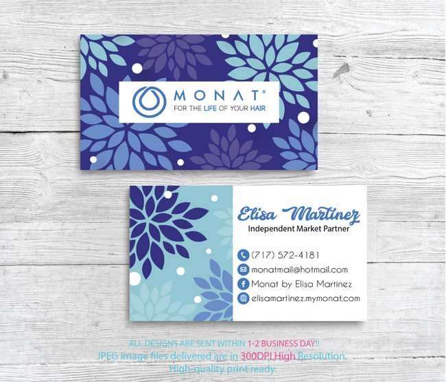 Monat Business Cards, Personalized Monat Hair Care Cards MN32