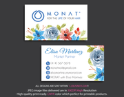Monat Business Cards, Personalized Monat Hair Care Cards MN23