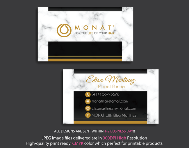 Monat Business Cards, Personalized Monat Hair Care Cards MN26