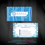 Monat Business Cards, Personalized Monat Hair Care Cards MN36