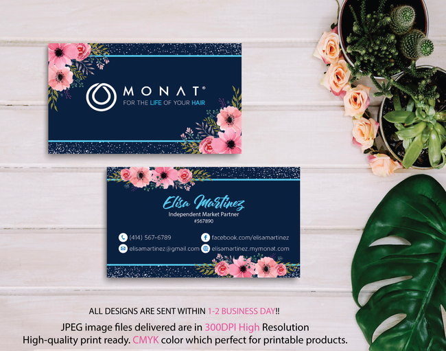 Monat Business Cards, Personalized Monat Hair Care Cards MN09