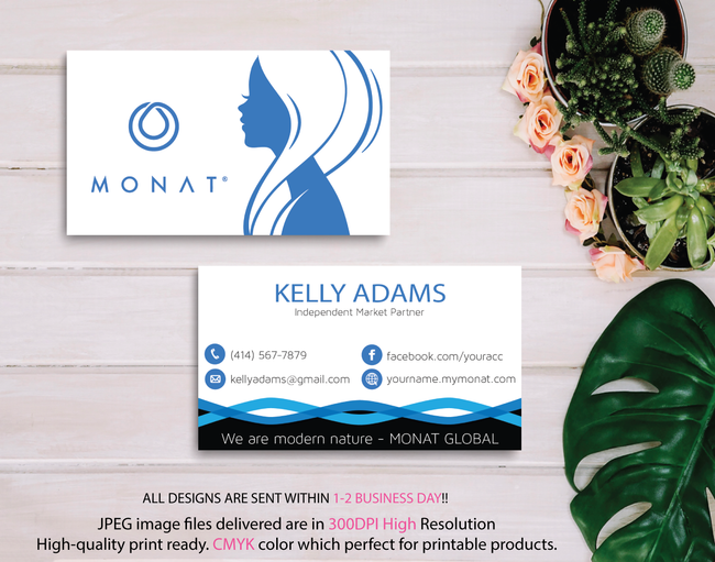 Monat Business Cards, Personalized Monat Hair Care Cards MN10
