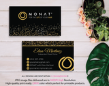 Monat Business Cards, Personalized Monat Hair Care Cards MN11