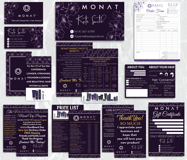 Monat Cards, Monat Marketing Bundle, Personalized Monat Business Cards MN29