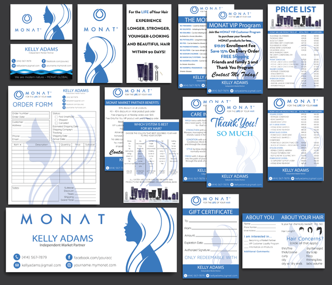 Monat Cards, Monat Marketing Bundle, Personalized Monat Business Cards MN10