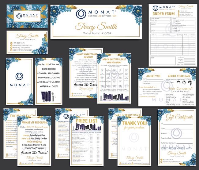 Monat Cards, Monat Marketing Bundle, Personalized Monat Business Cards MN23
